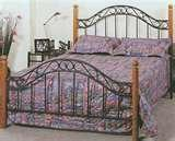Bed Frame Iron Wood images
