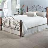 pictures of Bed Frame Iron Wood
