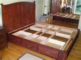 pictures of Bed Frame Double With Drawers