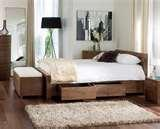 images of Bed Frame Double With Drawers