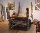 images of Rustic Wooden Bed Frames